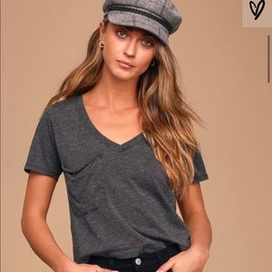 The Classic Skimmer Charcoal Grey Cropped Tee